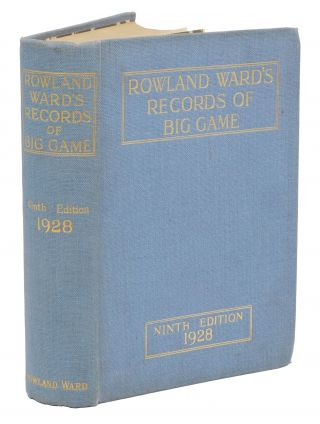 RECORDS OF BIG GAME 9TH EDITION. Ward Rowland